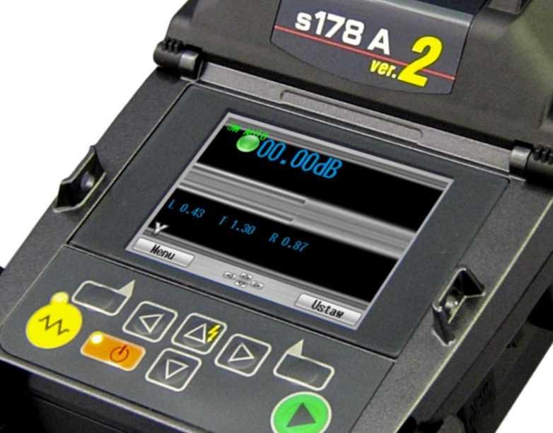 Spawarka światłowodowa FITEL S178 - obraz spawu G657.B3-G652
